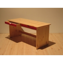 Oblong table with drawers