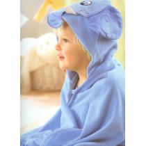 Rankšluostis su gobtuvu vaikams ŽVĖRELIAI - mėlynas