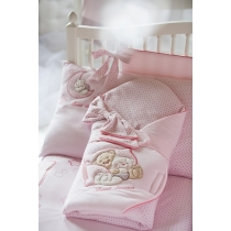 Swaddle wrap for baby BEARS, pink