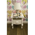 Bedside table MADAM 2 with a carved handle