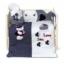 Luxury bedding for baby LOVE SEA