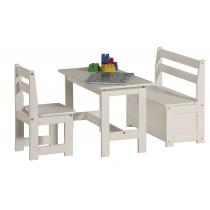 Komplektukas MAŽYLIS - staliukas, kėdutė, suoliukas