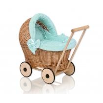 Pinti lėlių vežimėliai PUPA natūralūs 1031