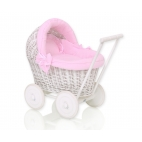 Wicker doll prams PUPA white