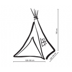 Teepee tent for children's - anthracite