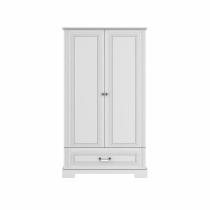 High 2-door wardrobe BELL-IN, vhite