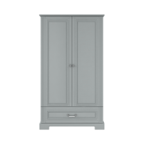 High 2-door wardrobe  BELL-IN, gray