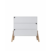 3-drawers chest BELL-LOTTA, white