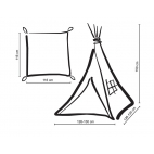 Teepee tents for children TIPI 1035