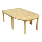 Half-rounded table 870x870 mm