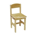 Height-adjustable wooden chair