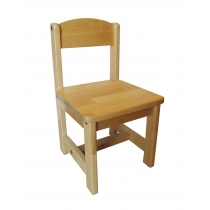 The wooden chair