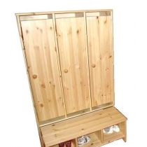 Cupboard for cloakroom with 3 parts