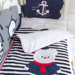 Luxurious bedding for cribs and strollers
